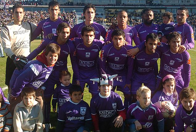 Formación del Defensor Sporting Campeón Uruguayo 2007-2008. El tetracampeonato violeta de la historia.