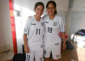 Shami Badell y Lucía Capeletti, integrantes de la selección uruguaya Sub 17.