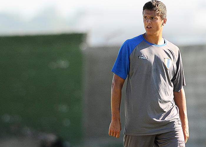 Emiliano Romero, con un golpe, una de las incógnitas para el partido del sábado.