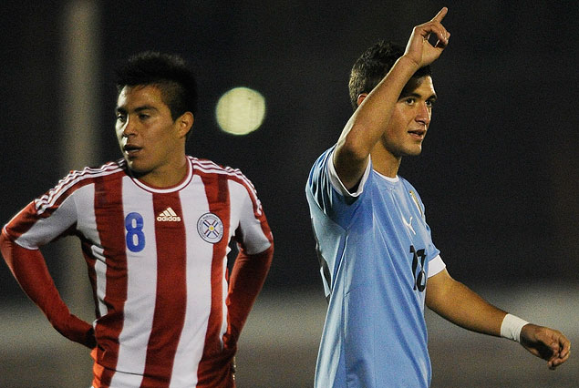 Giorgian De Arrascaeta dedica el primer gol uruguayo.