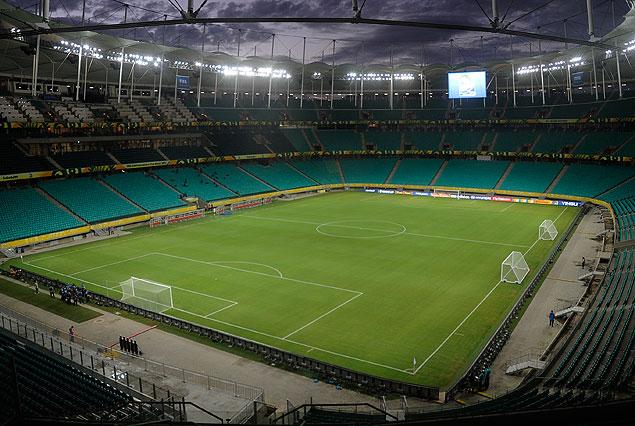 Estadio Fonte Nova de Bahía.