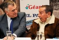 """Alcides Edgardo Ghiggia en la presentación coloquial realizada anoche en la 36a. Feria del Libro de """"Maracaná-La Historia Secreta"""""""
