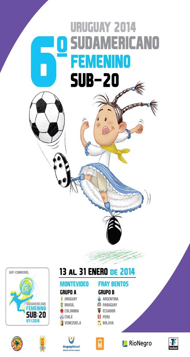 Afiche Sudamericano Sub 20 Femenino.