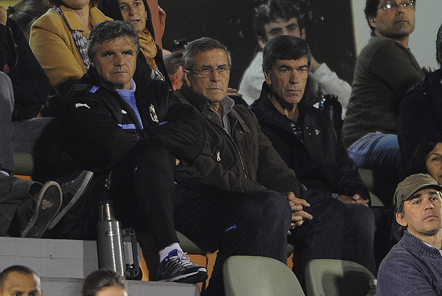 Celso Otero, Oscar Tabárez y el Prof. José Herrera en el Campus de Maldonado.