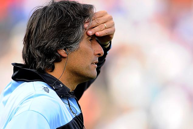 Alejandro Apud, entrenador de Sud América, equipo que se salvó del descenso y se queda en Primera.