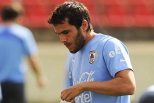 Alvaro González, esta mañana, cuando era confirmado titular para enfrentar a Inglaterra.