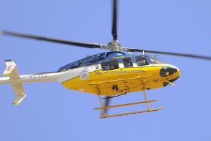 """El Operativo Militar para que la práctica de Uruguay fuera a """"puertas cerradas"""", agregó hoy un helicóptero de la Policía Rodoviaria Federal, matrículo PT-YZJ."""