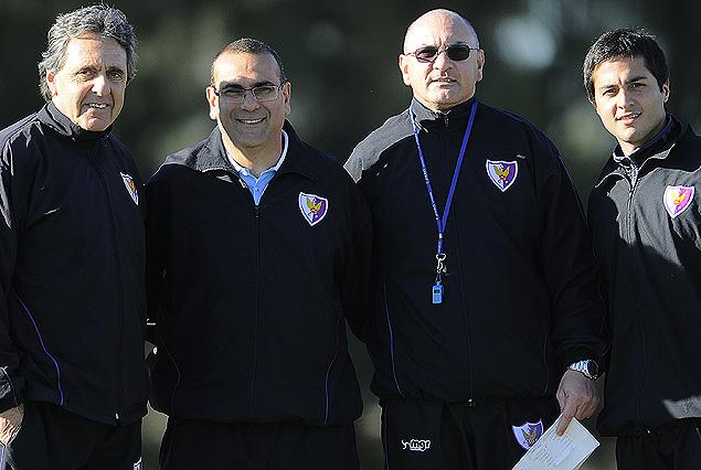 El nuevo cuerpo técnico de Fénix: el Prof. Juan Antonio Tchakidjian, Gustavo Bueno, el Prof. Matías Buzo y Jorge Barrios.
