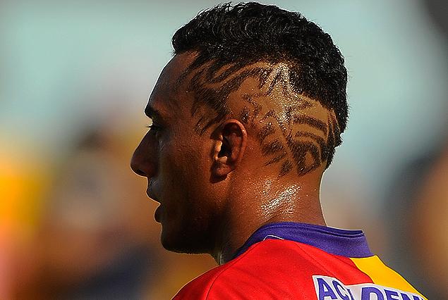 Franco Núñez y su particular corte de pelo.