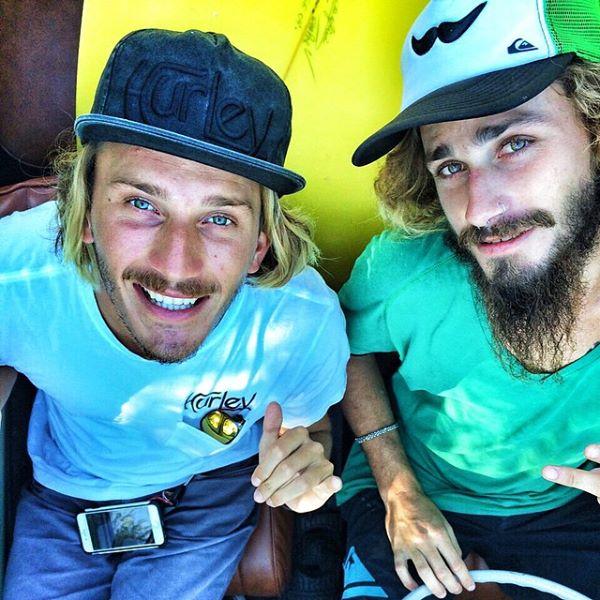 Los hermanos Lucas y Santiago Madrid, en camino a Rocha, luego de entrenar en Punta del Este.