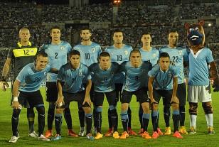 Así formó Uruguay ante Colombia en el Centenario.