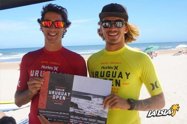Luisma Iturria y Lucas Madrid, protagonistas de las primeras dos ediciones de la Copa Hurley, se calzaron la lycra oficial 2015, que tendrá el evento en Semana de Turismo,
