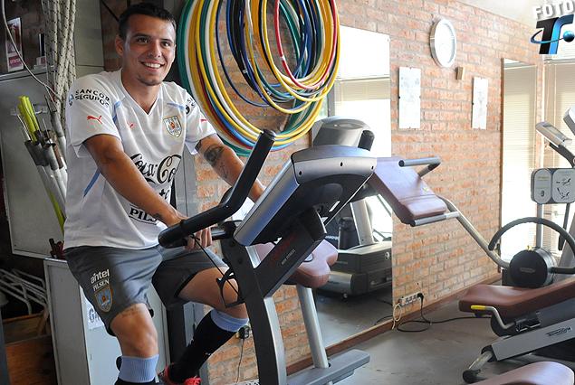 Leandro Otormin entrenó en el gimnasio.