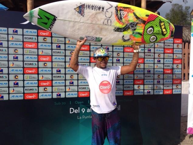 Rafael Pereira de Venezuela, gritó campeón en Ecuador. Foto: Alas Latin Tour