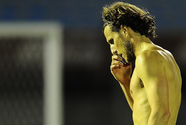 Diego Forlán en la decepción final de Peñaroll.