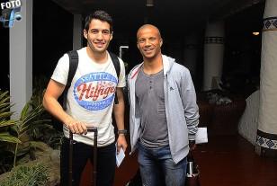 Camilo Mayada y Carlos Sánchez arribaron a las 01.30 a Santa Cruz.