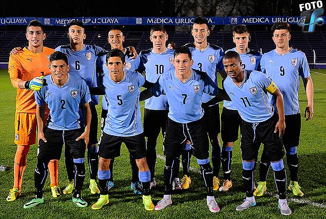 El equipo titular uruguayo en la categoría Sub 18.