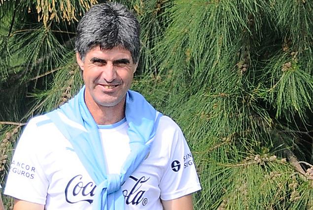 Santiago Ostolaza, DT de la selección Sub 17 de Uruguay.